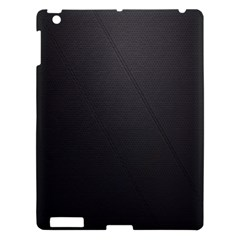 Leather Stitching Thread Perforation Perforated Leather Texture Apple Ipad 3/4 Hardshell Case by Simbadda