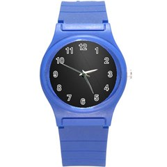 Leather Stitching Thread Perforation Perforated Leather Texture Round Plastic Sport Watch (s) by Simbadda