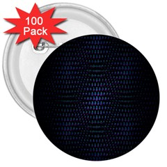 Hexagonal White Dark Mesh 3  Buttons (100 Pack)  by Simbadda