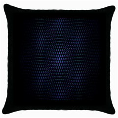 Hexagonal White Dark Mesh Throw Pillow Case (black) by Simbadda