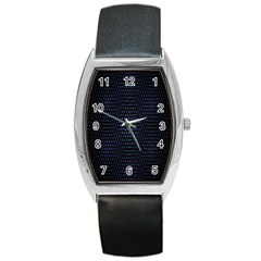 Hexagonal White Dark Mesh Barrel Style Metal Watch by Simbadda