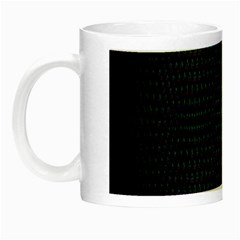 Hexagonal White Dark Mesh Night Luminous Mugs by Simbadda