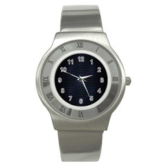 Hexagonal White Dark Mesh Stainless Steel Watch by Simbadda