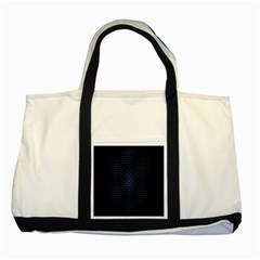 Hexagonal White Dark Mesh Two Tone Tote Bag by Simbadda