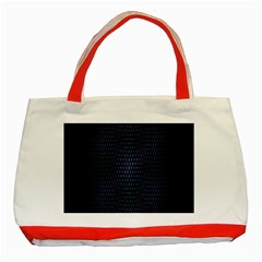 Hexagonal White Dark Mesh Classic Tote Bag (red) by Simbadda