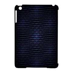 Hexagonal White Dark Mesh Apple Ipad Mini Hardshell Case (compatible With Smart Cover) by Simbadda