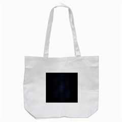 Hexagonal White Dark Mesh Tote Bag (white) by Simbadda