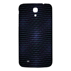 Hexagonal White Dark Mesh Samsung Galaxy Mega I9200 Hardshell Back Case by Simbadda