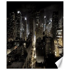 New York United States Of America Night Top View Canvas 8  X 10  by Simbadda