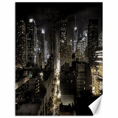 New York United States Of America Night Top View Canvas 12  X 16   by Simbadda