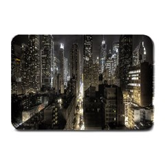 New York United States Of America Night Top View Plate Mats by Simbadda