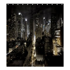 New York United States Of America Night Top View Shower Curtain 66  X 72  (large)  by Simbadda