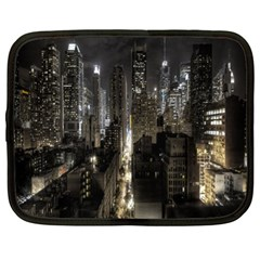 New York United States Of America Night Top View Netbook Case (xl)  by Simbadda
