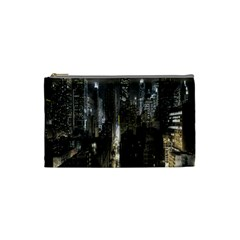 New York United States Of America Night Top View Cosmetic Bag (small)  by Simbadda