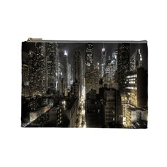 New York United States Of America Night Top View Cosmetic Bag (large)  by Simbadda