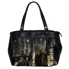 New York United States Of America Night Top View Office Handbags (2 Sides)  by Simbadda
