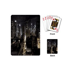 New York United States Of America Night Top View Playing Cards (mini)  by Simbadda