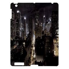 New York United States Of America Night Top View Apple Ipad 3/4 Hardshell Case by Simbadda