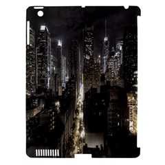 New York United States Of America Night Top View Apple Ipad 3/4 Hardshell Case (compatible With Smart Cover) by Simbadda