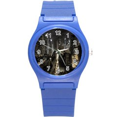 New York United States Of America Night Top View Round Plastic Sport Watch (s) by Simbadda
