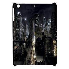 New York United States Of America Night Top View Apple Ipad Mini Hardshell Case by Simbadda