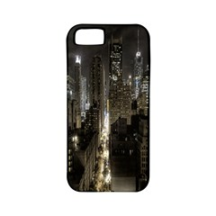 New York United States Of America Night Top View Apple Iphone 5 Classic Hardshell Case (pc+silicone) by Simbadda