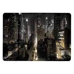 New York United States Of America Night Top View Samsung Galaxy Tab 10 1  P7500 Flip Case by Simbadda
