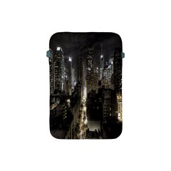 New York United States Of America Night Top View Apple Ipad Mini Protective Soft Cases by Simbadda