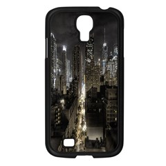 New York United States Of America Night Top View Samsung Galaxy S4 I9500/ I9505 Case (black) by Simbadda