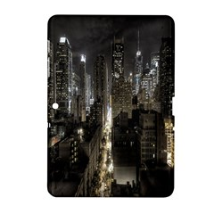 New York United States Of America Night Top View Samsung Galaxy Tab 2 (10 1 ) P5100 Hardshell Case  by Simbadda