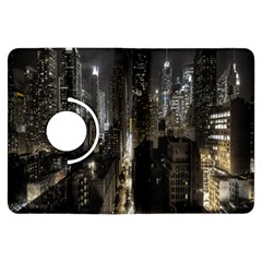 New York United States Of America Night Top View Kindle Fire Hdx Flip 360 Case by Simbadda