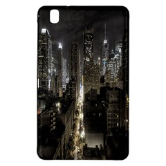 New York United States Of America Night Top View Samsung Galaxy Tab Pro 8 4 Hardshell Case by Simbadda