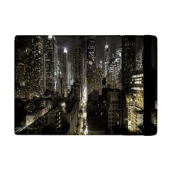 New York United States Of America Night Top View Ipad Mini 2 Flip Cases by Simbadda