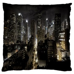 New York United States Of America Night Top View Standard Flano Cushion Case (one Side) by Simbadda