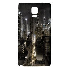 New York United States Of America Night Top View Galaxy Note 4 Back Case