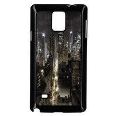 New York United States Of America Night Top View Samsung Galaxy Note 4 Case (black) by Simbadda
