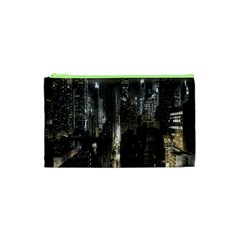 New York United States Of America Night Top View Cosmetic Bag (xs) by Simbadda