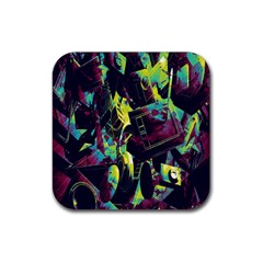 Items Headphones Camcorders Cameras Tablet Rubber Square Coaster (4 Pack)  by Simbadda