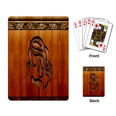 Pattern Shape Wood Background Texture Playing Card by Simbadda