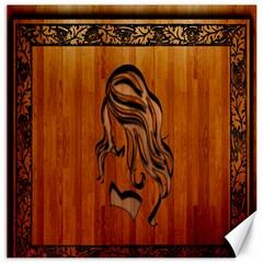 Pattern Shape Wood Background Texture Canvas 12  X 12   by Simbadda