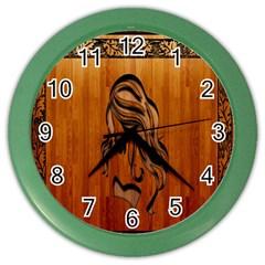Pattern Shape Wood Background Texture Color Wall Clocks by Simbadda