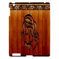Pattern Shape Wood Background Texture Apple Ipad 3/4 Hardshell Case by Simbadda