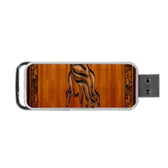 Pattern Shape Wood Background Texture Portable Usb Flash (one Side) by Simbadda