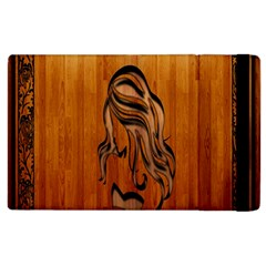 Pattern Shape Wood Background Texture Apple Ipad 2 Flip Case by Simbadda