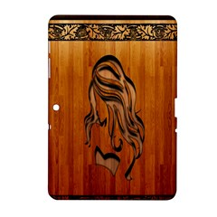 Pattern Shape Wood Background Texture Samsung Galaxy Tab 2 (10 1 ) P5100 Hardshell Case  by Simbadda