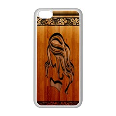 Pattern Shape Wood Background Texture Apple Iphone 5c Seamless Case (white) by Simbadda