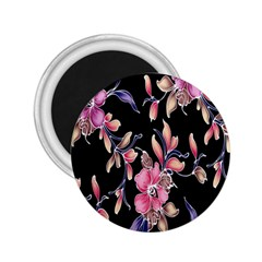 Neon Flowers Black Background 2 25  Magnets by Simbadda