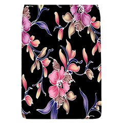 Neon Flowers Black Background Flap Covers (s)  by Simbadda