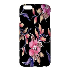 Neon Flowers Black Background Apple Iphone 6 Plus/6s Plus Hardshell Case by Simbadda