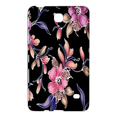 Neon Flowers Black Background Samsung Galaxy Tab 4 (7 ) Hardshell Case  by Simbadda